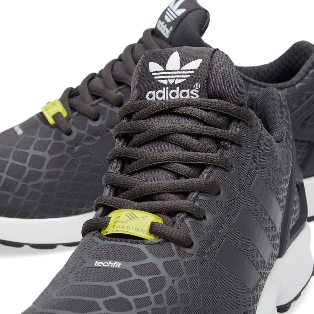 low priced ba3f9 715c2 Adidas ZX Flux Techfit. Shadow Black