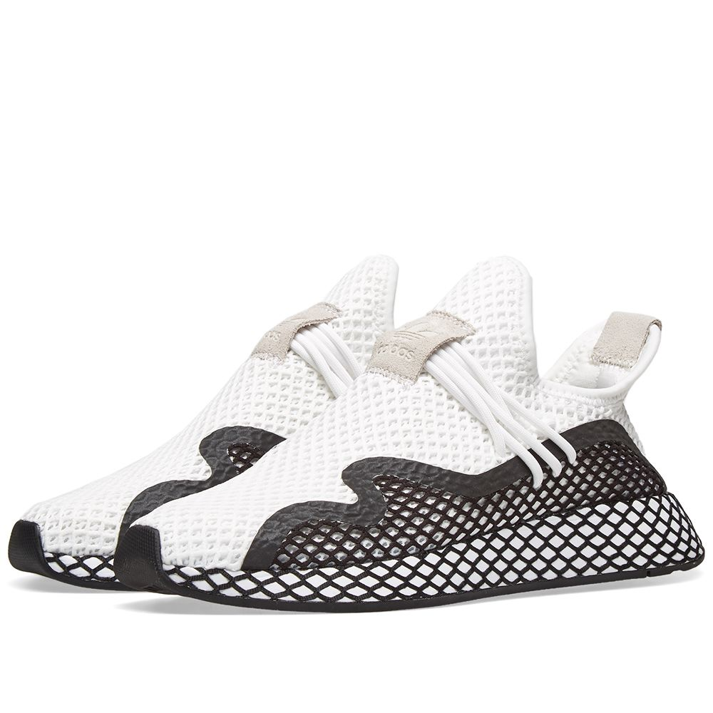best service 9563f 0cd88 Adidas Deerupt S Runner White  Core Black  END.