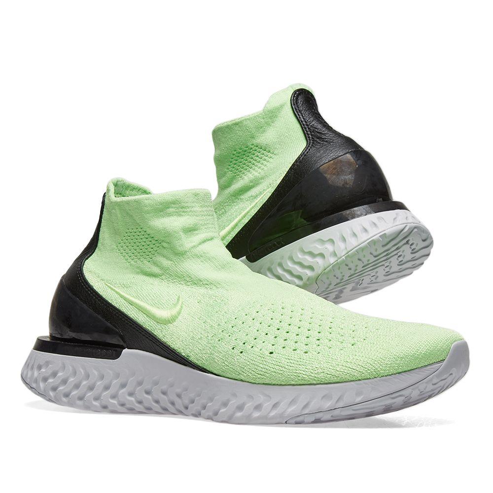 fb202f2077f05d Nike Rise React Flyknit Lime Blast