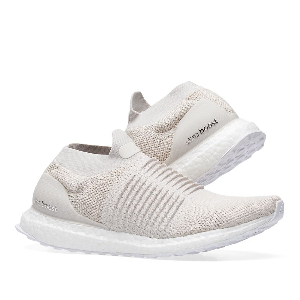 87baa94f3c389 Adidas Ultra Boost Laceless Chalk Pearl   Linen