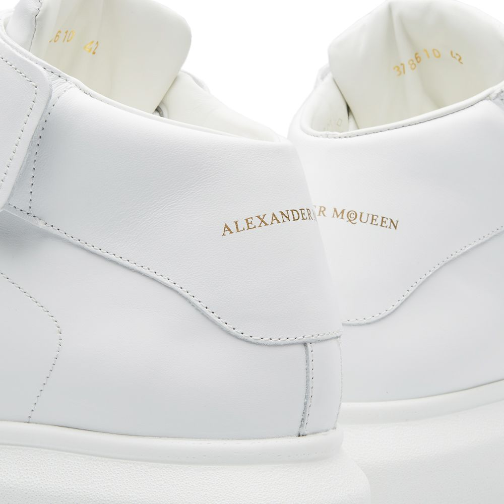 9f7ae7ed16d6 Alexander McQueen Oversized Sole Mid Top Strap Sneaker White