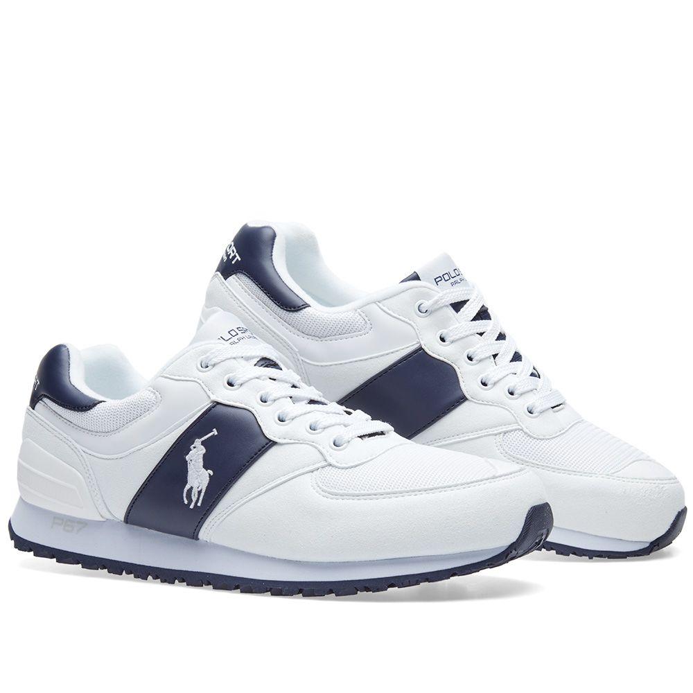 Polo Ralph Lauren Slaton Pony Sneaker Newport Navy   White  67794e2283d