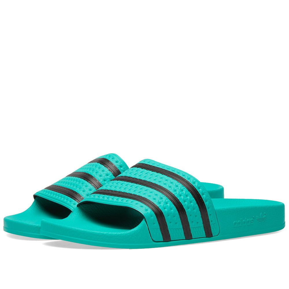 new product 69819 c88be Adidas Adilette Green  Black  END.