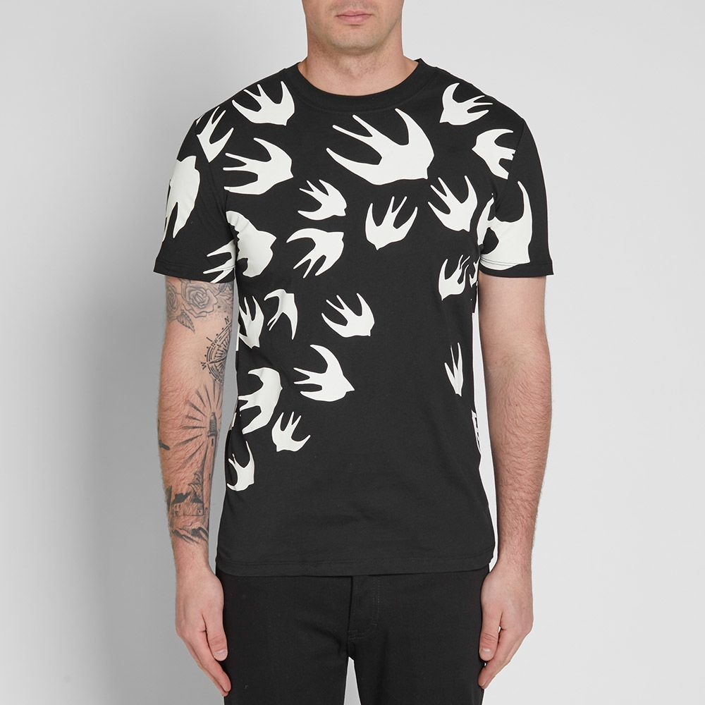 0f6d7b06f McQ by Alexander McQueen Classic Swallow Tee Darkest Black & Optic ...