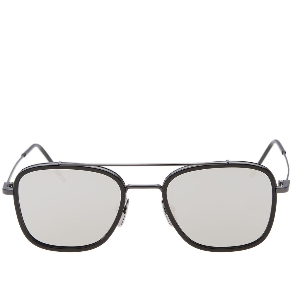 3a953c8886a0 Thom Browne TB-800 Sunglasses Black Iron   Silver Mirror