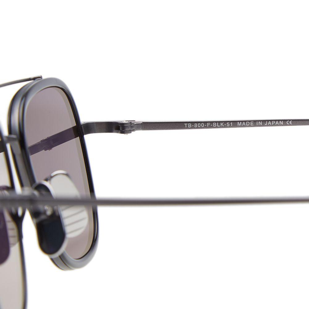 ffde7820b67d Thom Browne TB-800 Sunglasses Black Iron   Silver Mirror