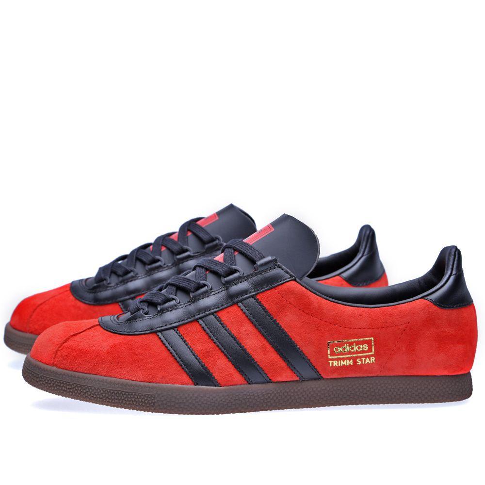 b7677a880d1 Adidas Trimm Star Hi-Res Red   Black