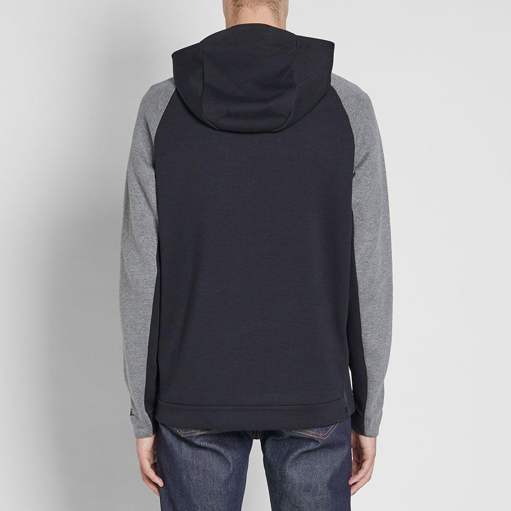 ea12fd51ab1e Nike Tech Fleece Half Zip Hoody Light Bone   Carbon Heather
