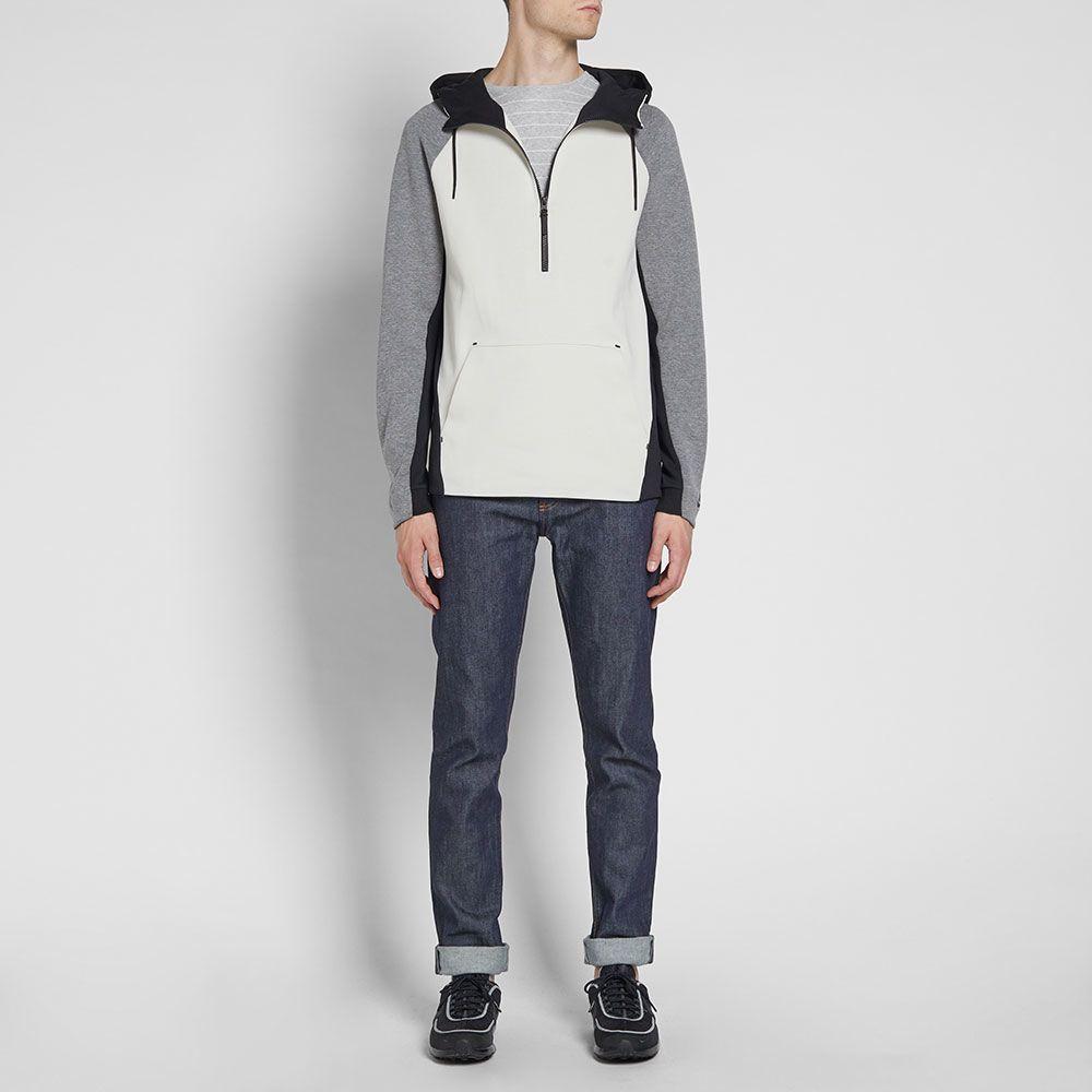 e75b378cc7af Nike Tech Fleece Half Zip Hoody Light Bone   Carbon Heather