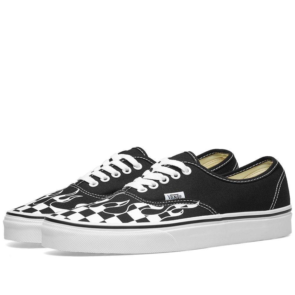 aeb5449013c9 Vans Authentic Checker Flame Black   True White
