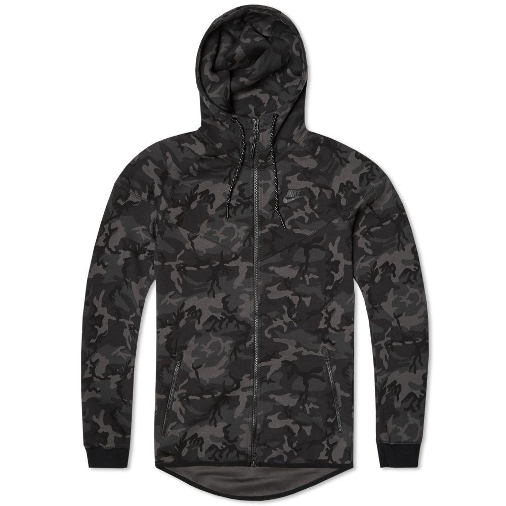 bfad8ef3ee95 Nike Tech Fleece Camo Windrunner Medium Ash   Black