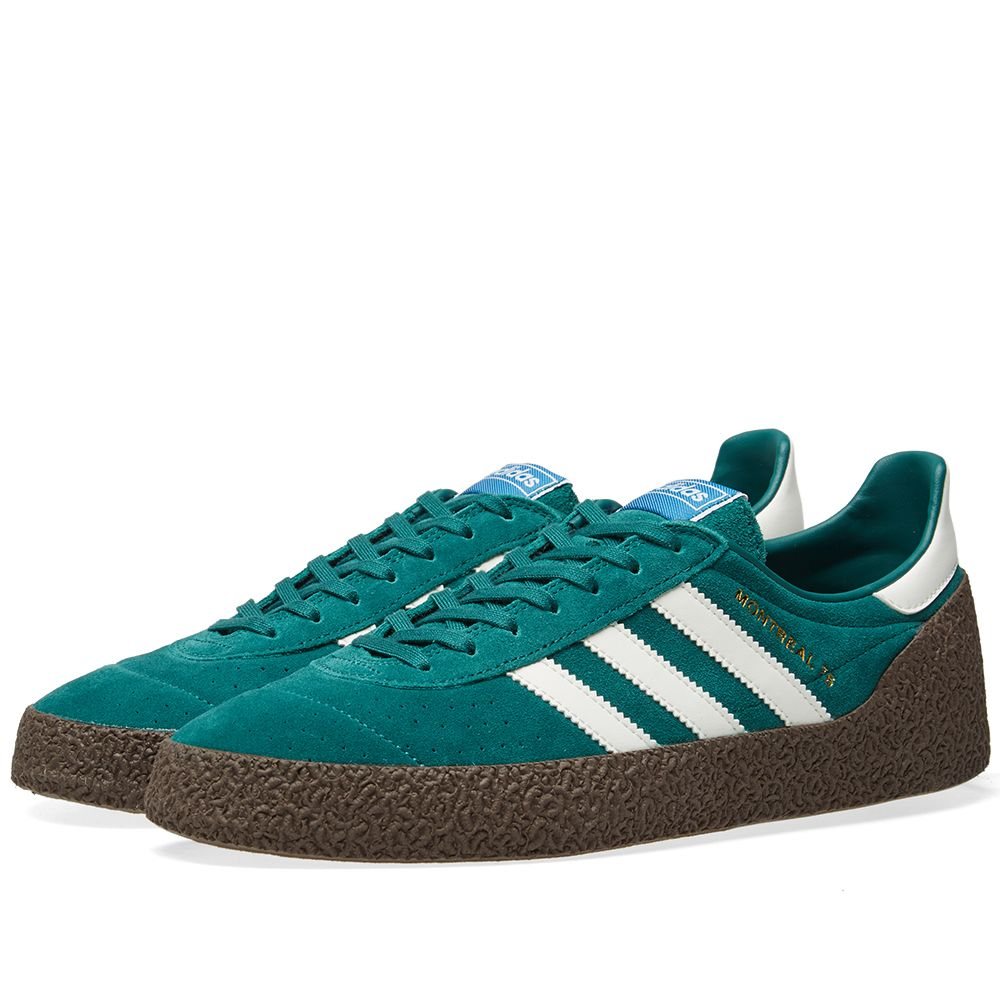 reputable site fe994 f1ff1 Adidas Montreal 76 Noble Green, Off White  Gum  END.