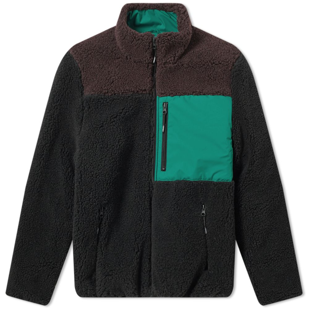 e61b97e85c0d Kenzo Shearling Down Jacket Black