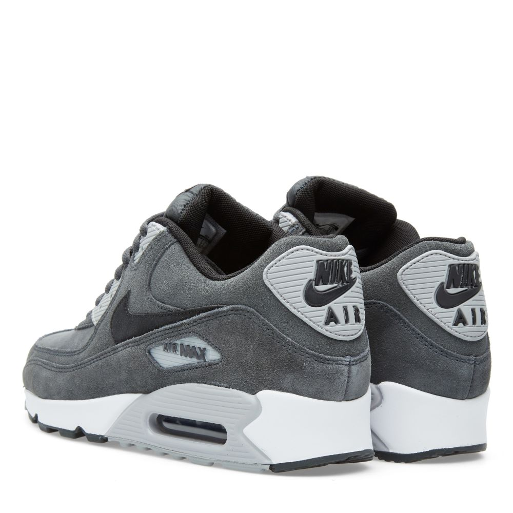 quality design a8a38 9282b Nike Air Max 90 Leather Anthracite, Black   Wolf Grey   END.