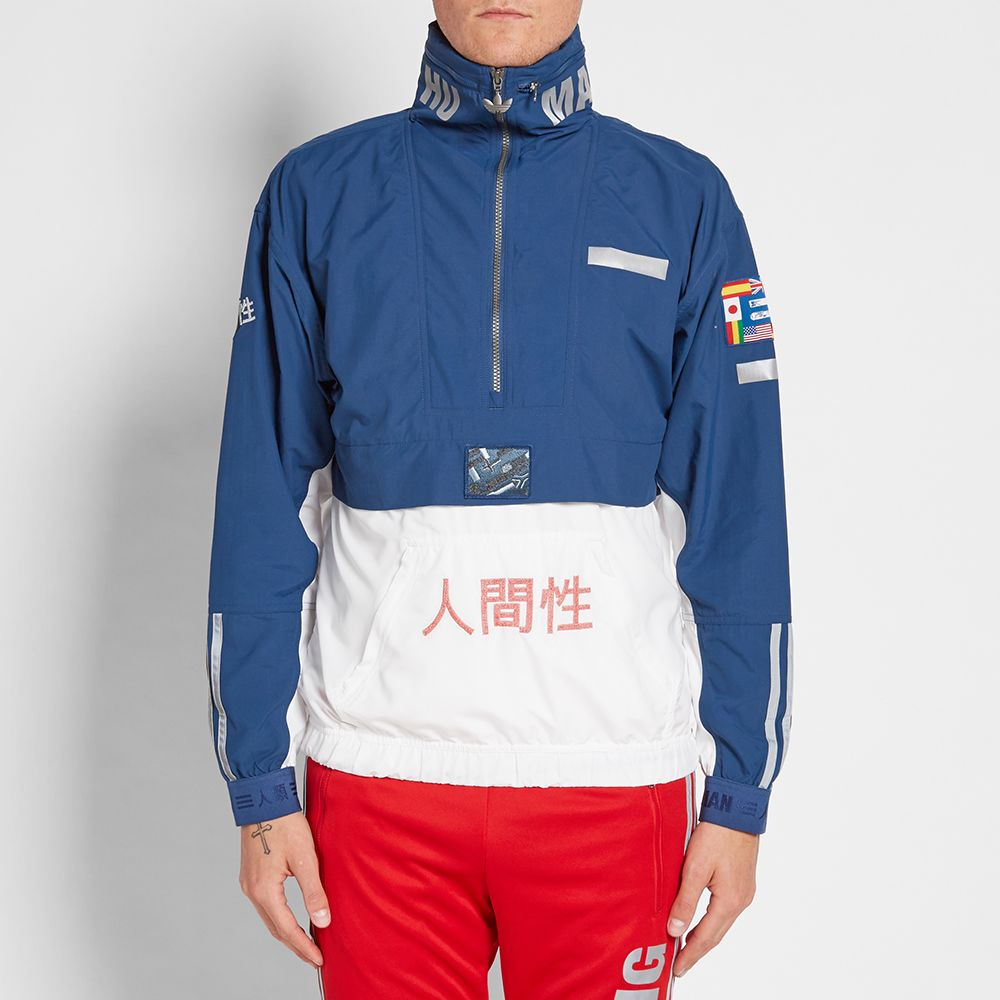 bb33609849b1 Adidas x Pharrell Williams Human Race Popover Windbreaker Navy ...