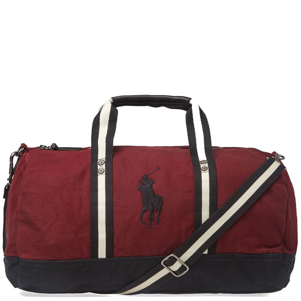 0c02b61507bc Polo Ralph Lauren Canvas Polo Player Logo Duffle Bag Wine