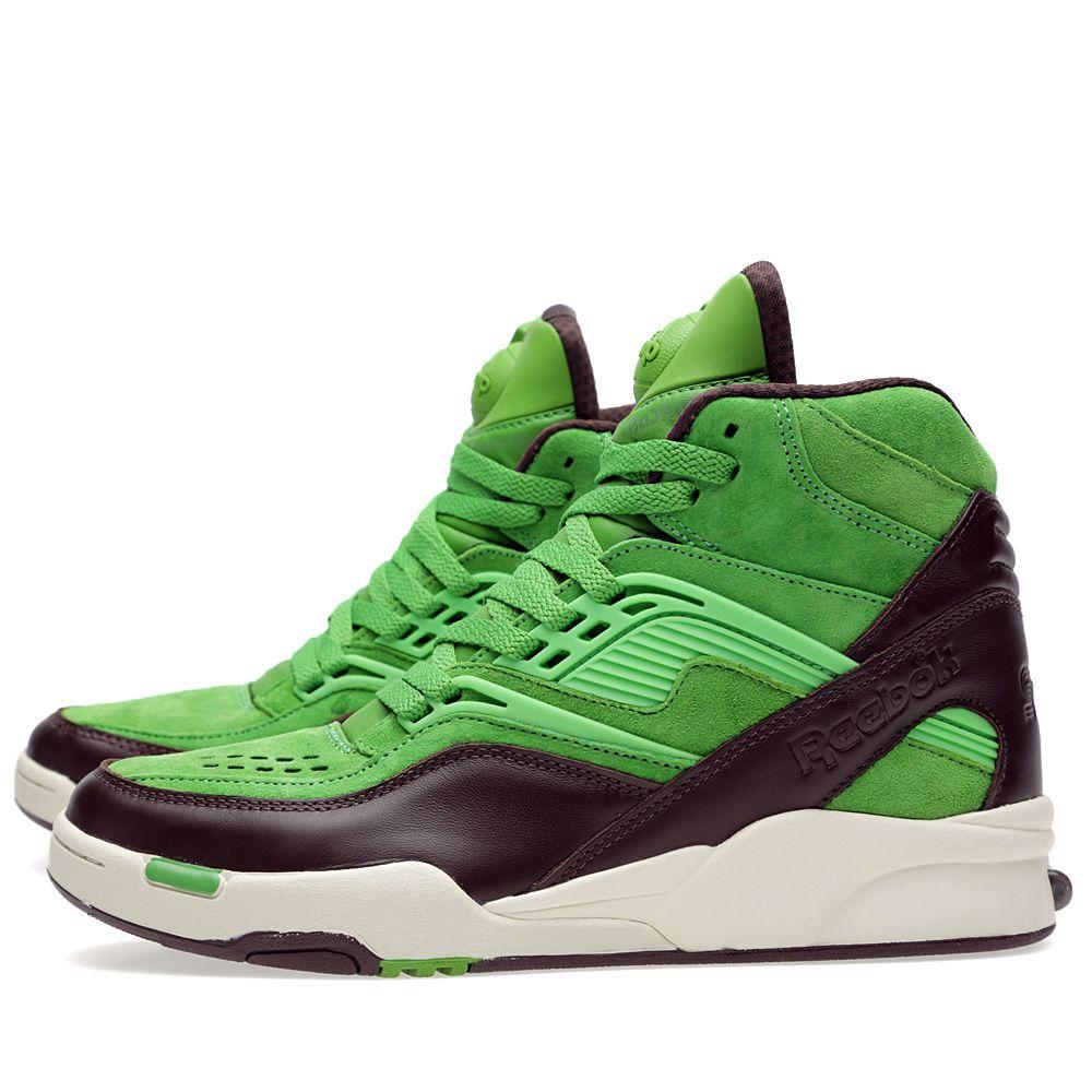 813432473d12 Reebok x SneakersNstuff Twilight Zone Pump  Punschrulle  Neon Green ...