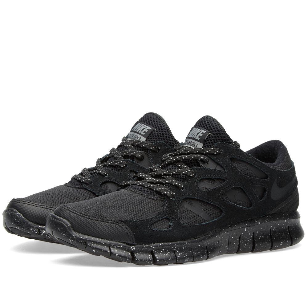 f60600aebdac Nike Free Run 2 Premium Black   Metallic Pewter