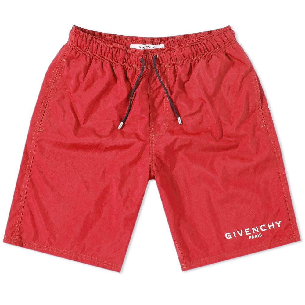 e861eb922c8b7f Givenchy Logo Swim Short Red   White
