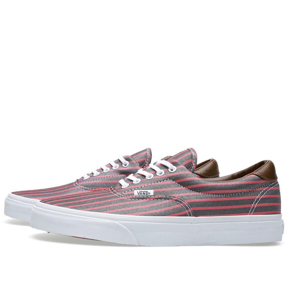8f81a27bdd Vans Era 59 Stripes Pink   True White