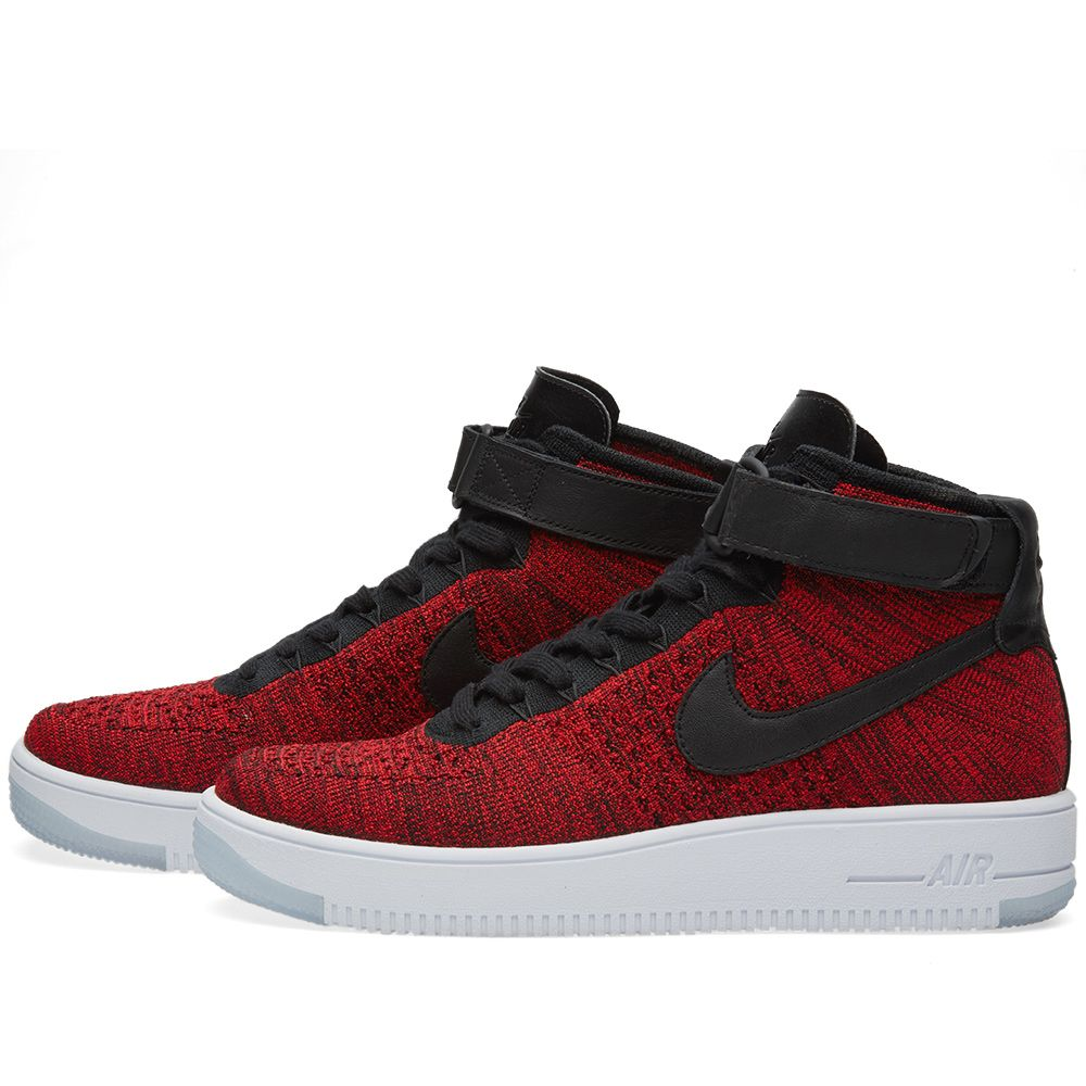 online retailer 93e54 cac5a Nike Air Force 1 Flyknit University Red  Black  END.