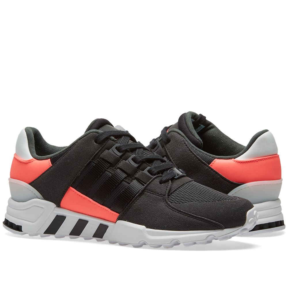 newest collection 683fb 9f46a Adidas EQT Support RF Core Black, Turbo  White  END.