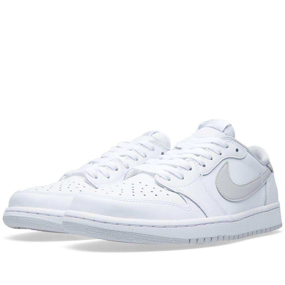a58eb0ce9134 Nike Air Jordan 1 Retro Low OG White   Neutral Grey