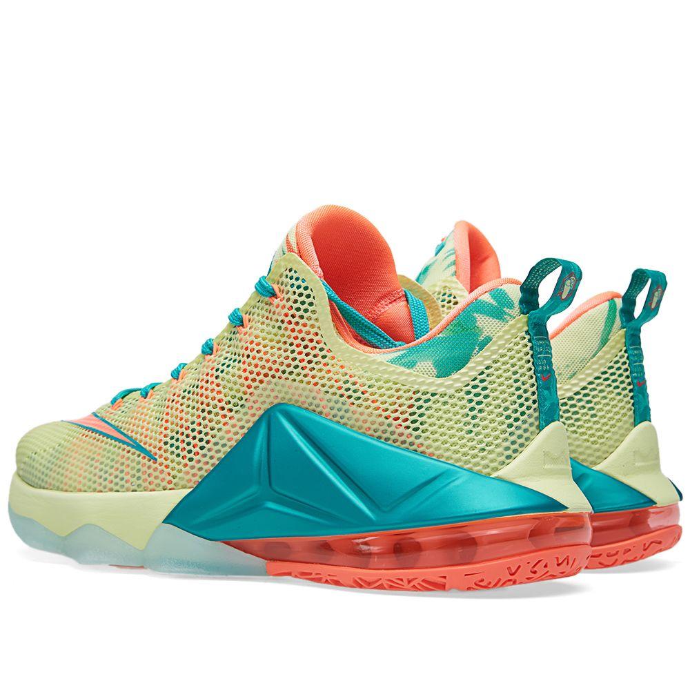 Nike LeBron XII Low Premium  LeBronold Palmer . White Lime   Bring Mango.   219. image b798372499