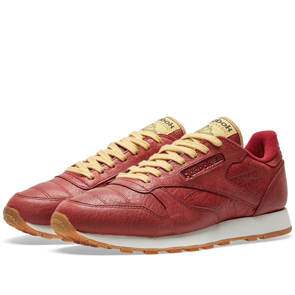 cheaper 0f4f8 8abe7 Reebok Classic Leather Boxing Rugged Maroon   Retro Yellow   END.