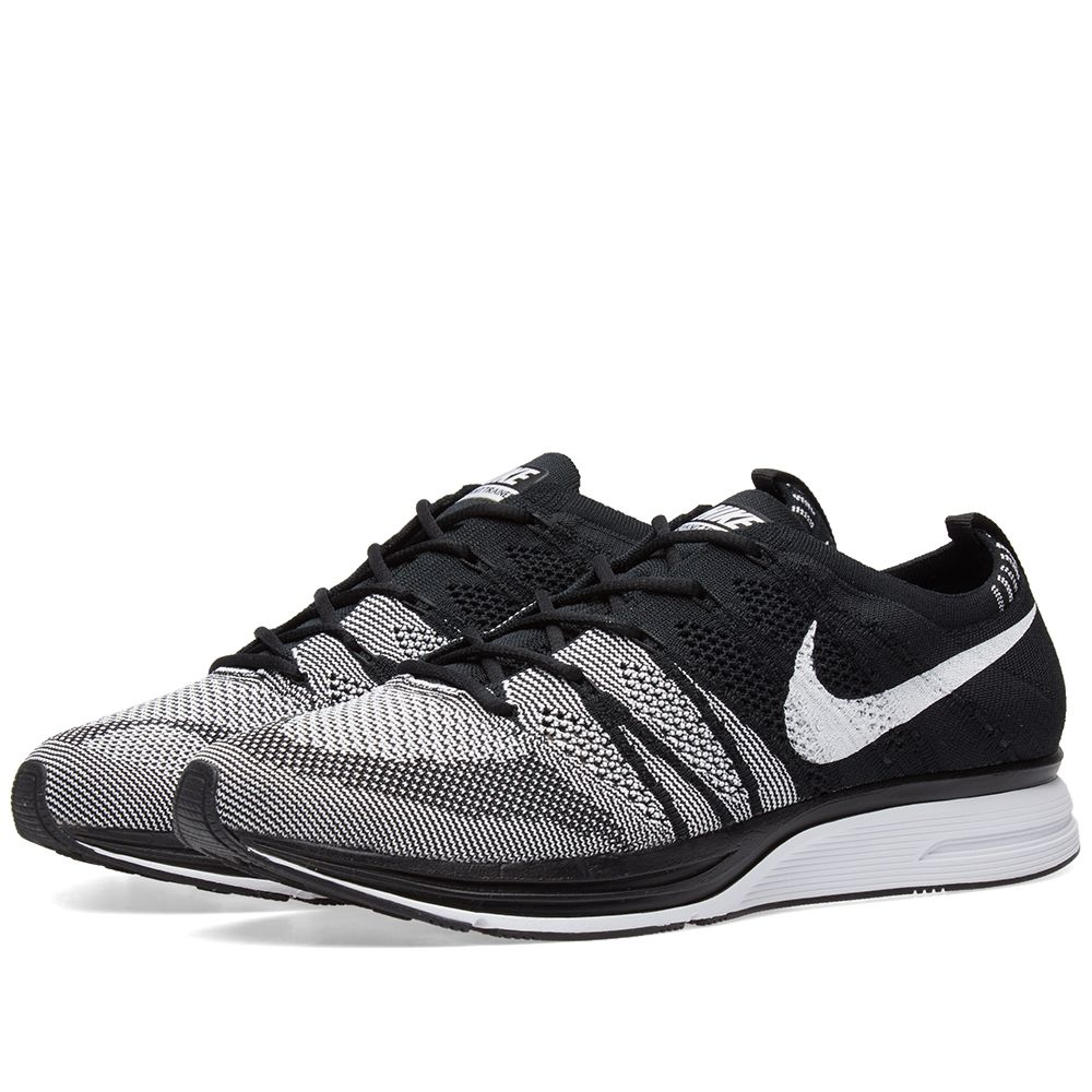 5feac7458269 Nike Flyknit Trainer Black   White