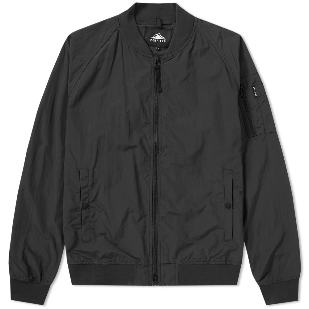 c0400f3153a Penfield Okenfield Nylon Bomber Jacket Black