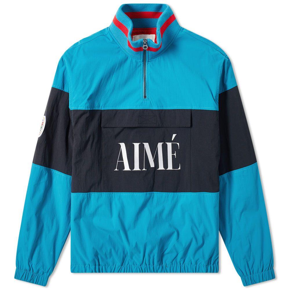 4393d55ffef2 Aimé Leon Dore Logo Quarter Zip Popover Jacket Teal