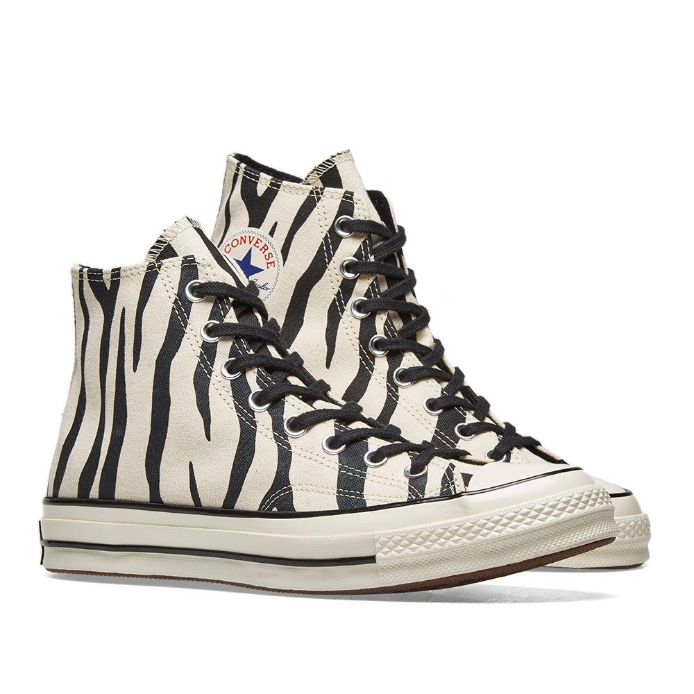 72e85628e76 Converse Chuck Taylor 1970s Hi Zebra Canvas. Greige