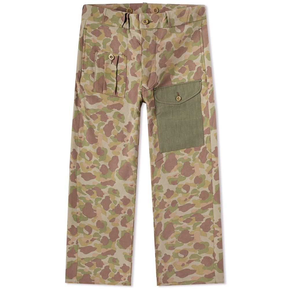 59423fea4d00bc Nigel Cabourn PW Pant Faded Green Camo