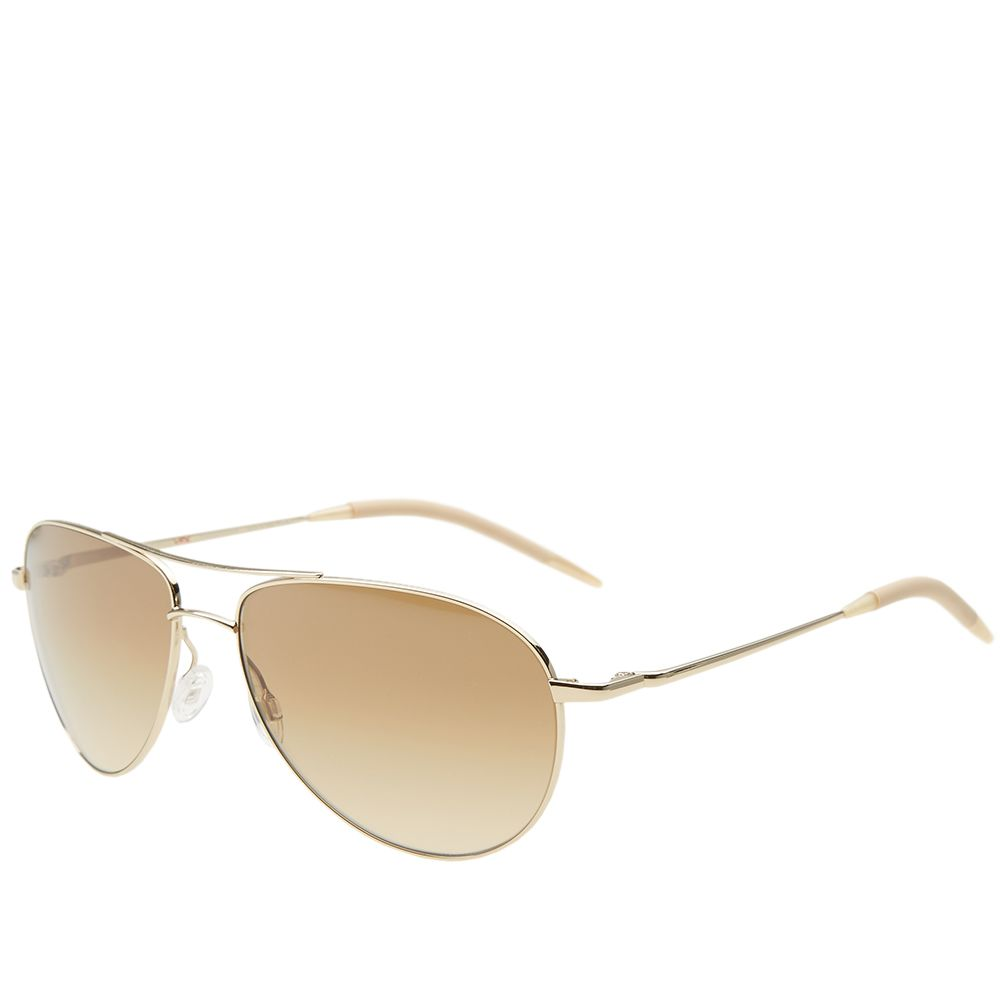 ba0b494f18f Oliver Peoples Benedict Sunglasses Gold   Chrome Amber