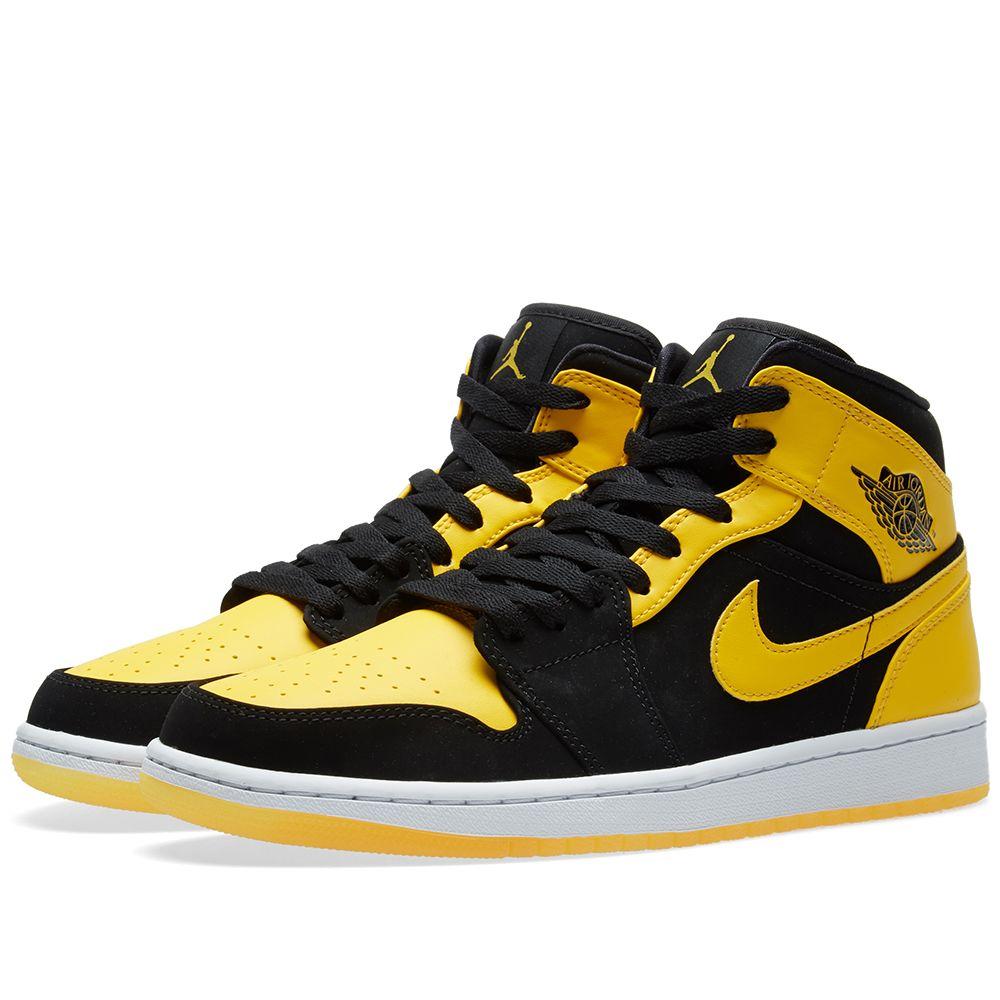 wholesale dealer cde53 c5f1e Nike Air Jordan 1 Mid Black, Varsity Maize   White   END.