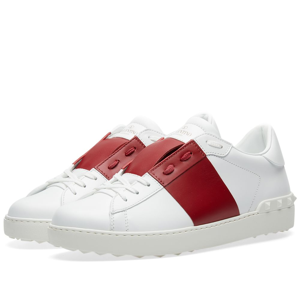 c3ce8ccfb8f9 Valentino Open Low Top Sneaker Red