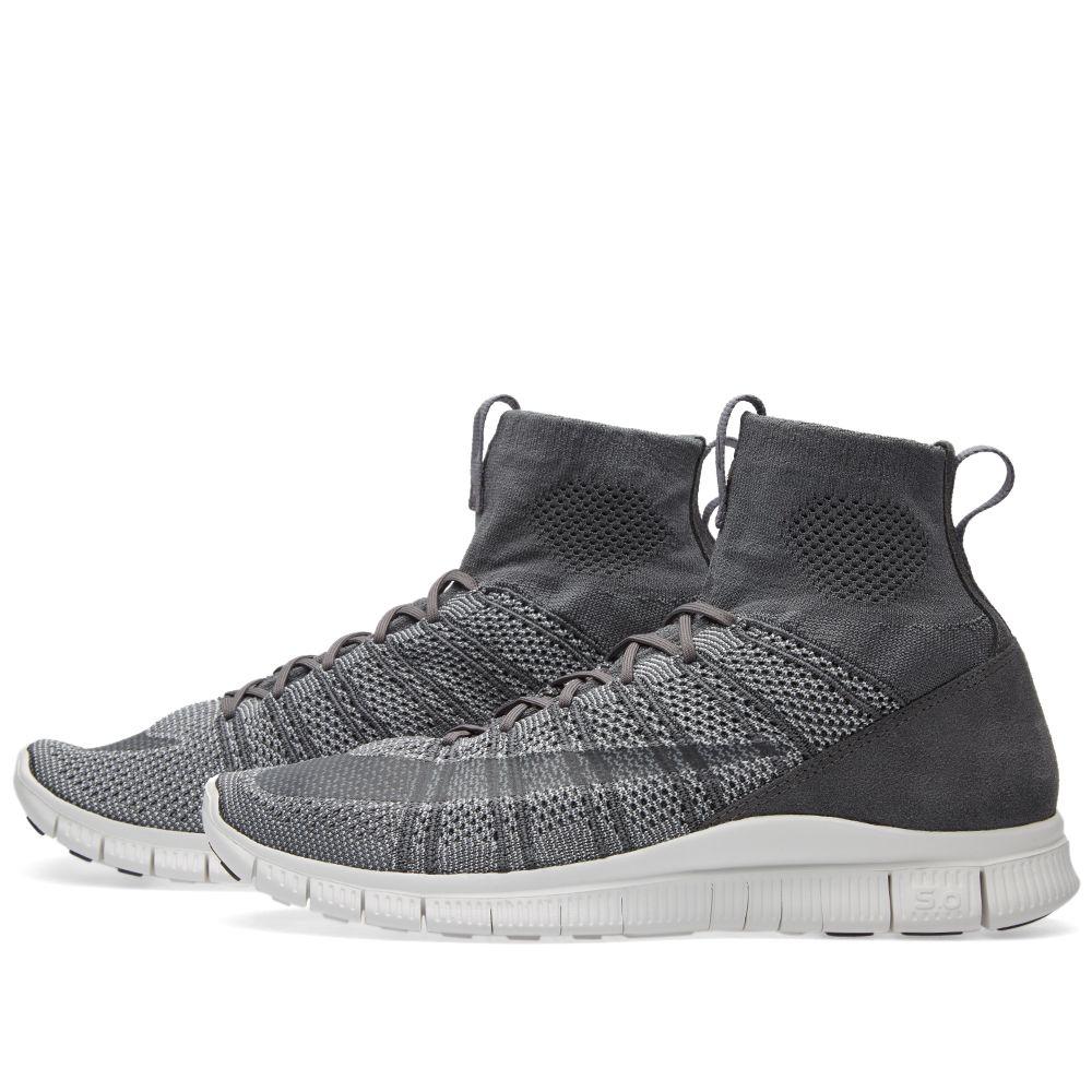 de65e1234e43 Nike Free Flyknit Mercurial Dark Grey   Wolf Grey