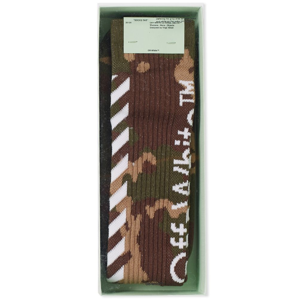 cf76f117ea98 Off-White Diagonal Camo Socks Camouflage   White