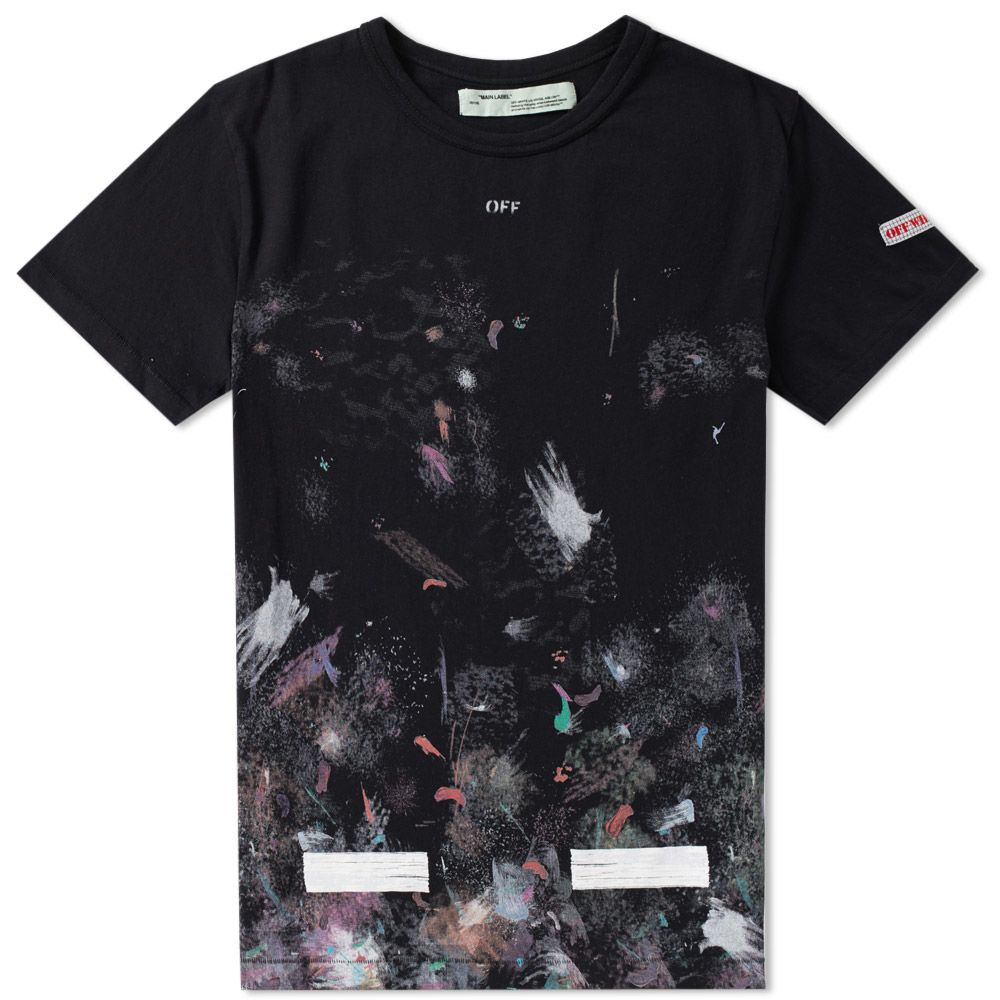 Off White Galaxy Brushed Tee Black White End