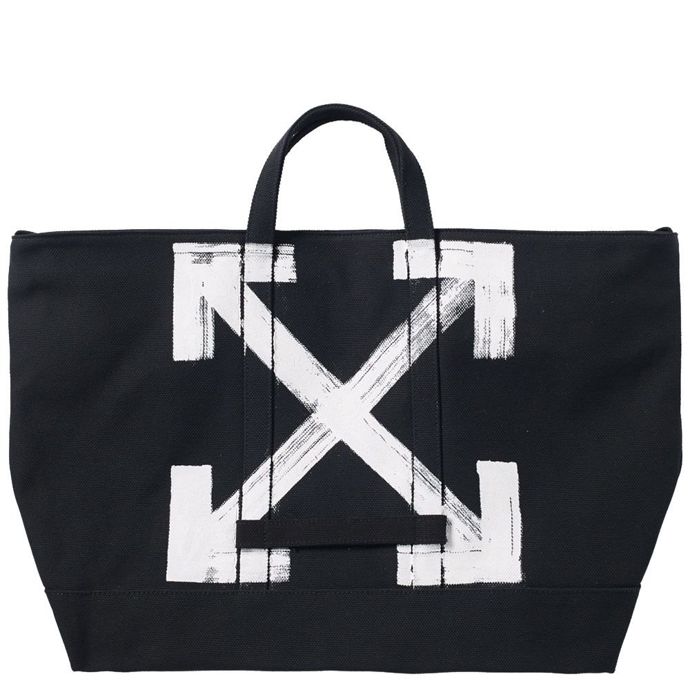 Off-White Brushed Tote Bag Black   White   END. 5fc0149eac