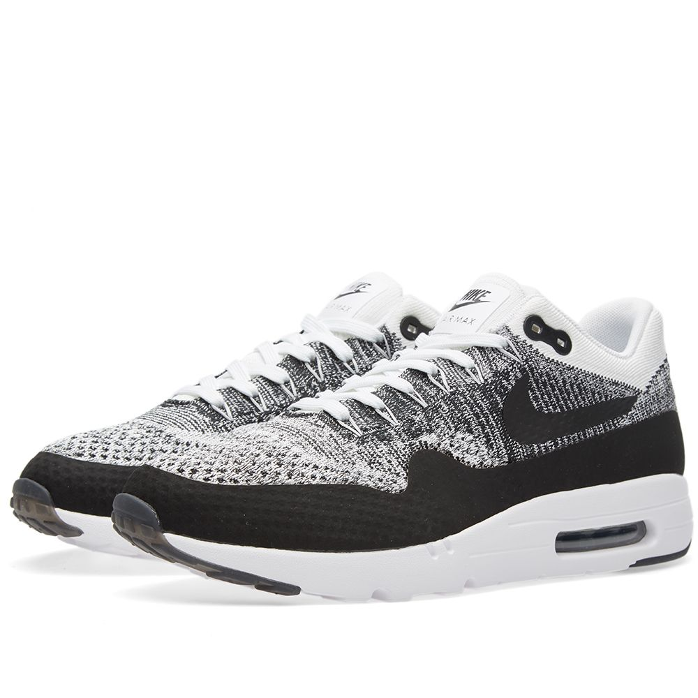 nike air max 1 ultra flyknit white black end. Black Bedroom Furniture Sets. Home Design Ideas