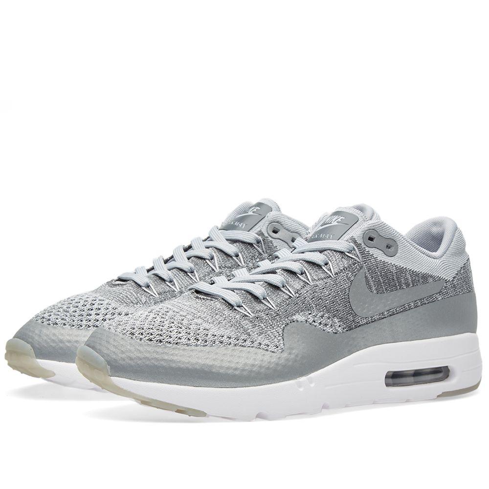 8495cec2d12fd Nike Air Max 1 Ultra Flyknit. Wolf Grey   White. AU 189 AU 95. image