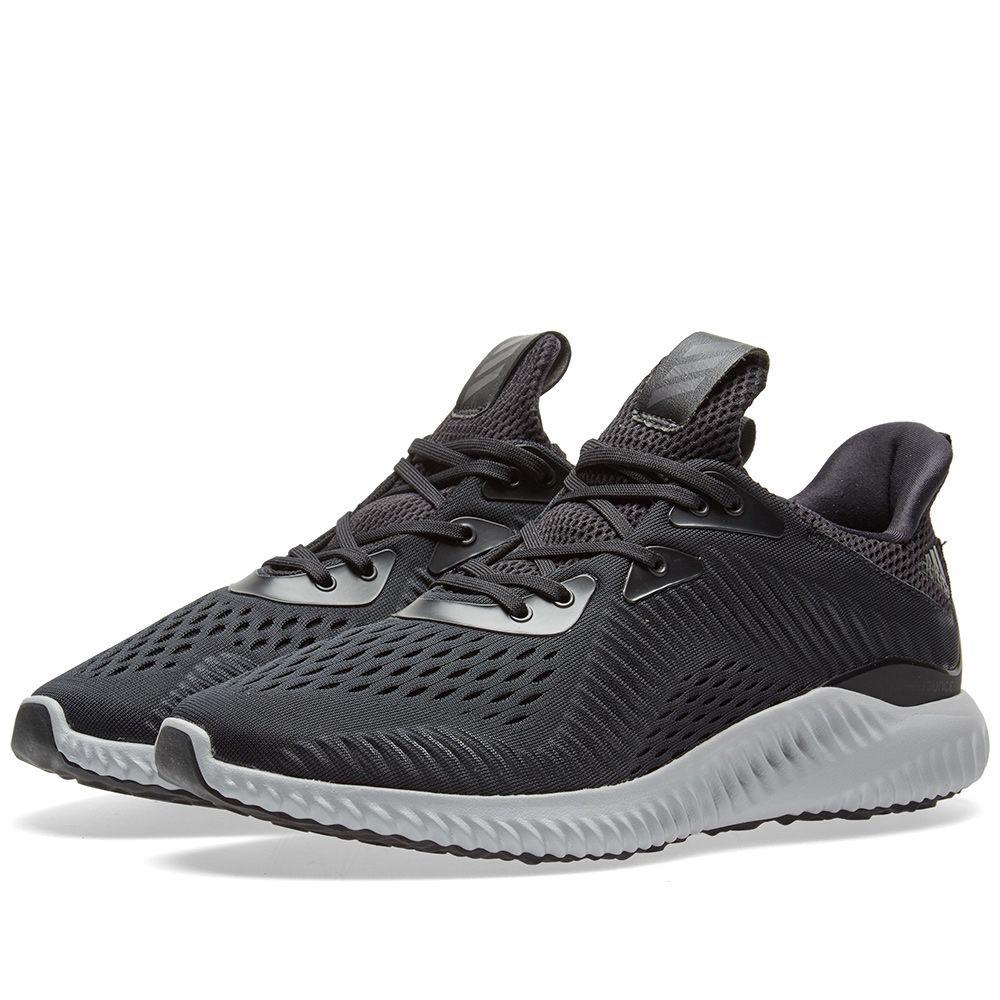 Adidas Alphabounce EM Core Black   White  83aa7236e