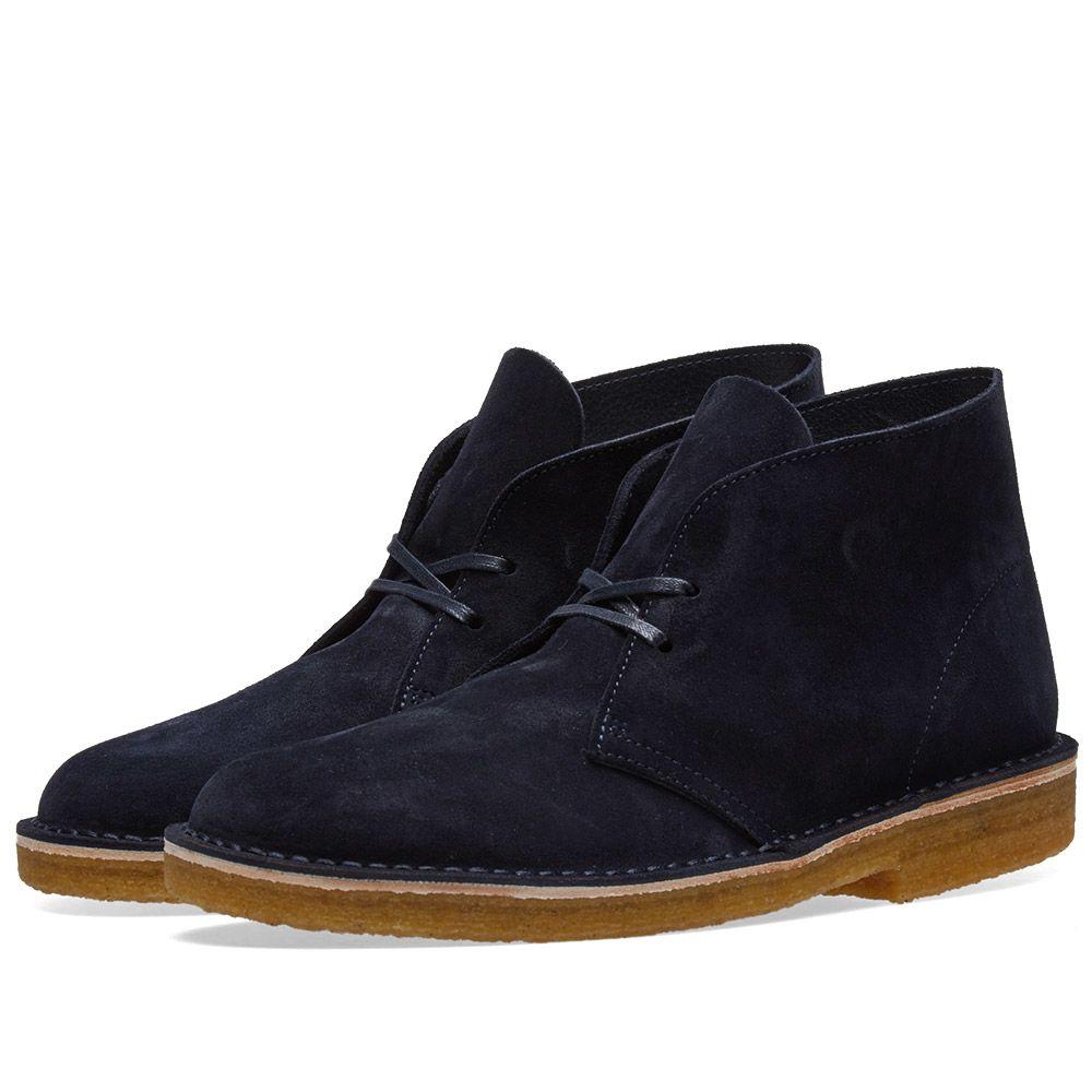 Clarks Originals Desert Boot - Made in Italy Indigo Suede  1e14b741a