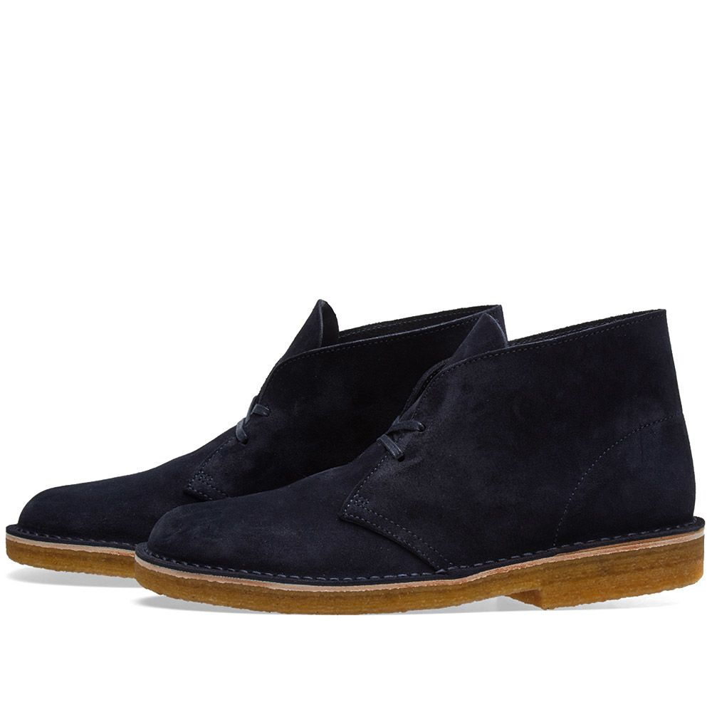 9bc9992f1858 Clarks Originals Desert Boot - Made in Italy Indigo Suede