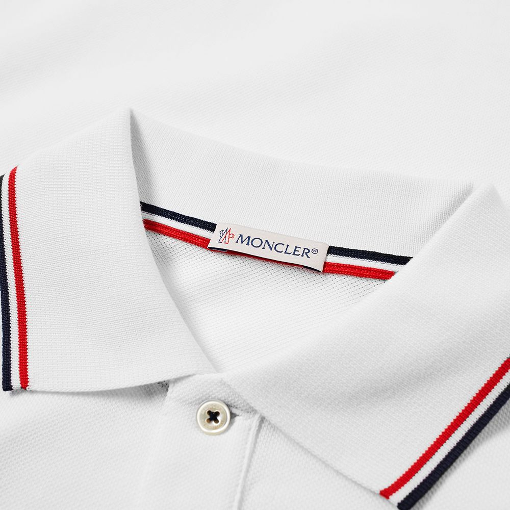 3922f3248 Moncler Maglia Classic Logo Polo White