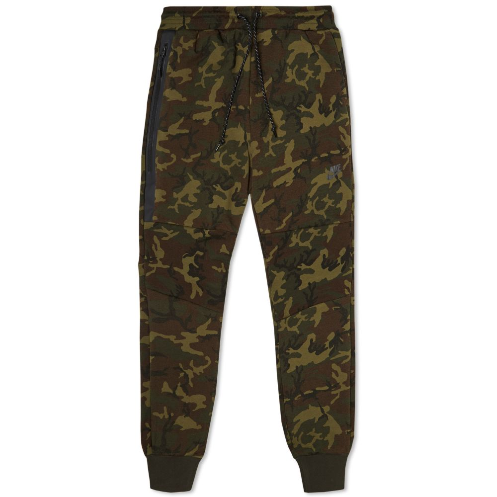 c72a5474ca07 Nike Tech Fleece Camo Pant Sequoia   Black