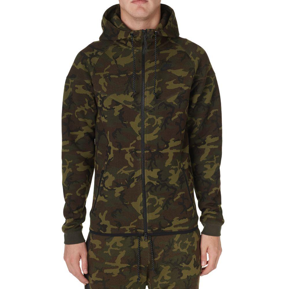 8865afdad8 Nike Tech Fleece Camo Windrunner Sequoia   Black