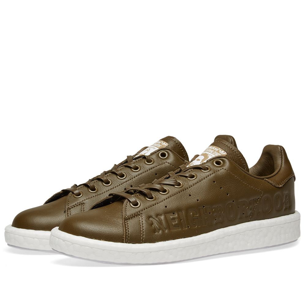 differently aa2d1 58609 Adidas x NBHD Stan Smith. Trace Olive. 185 119. image